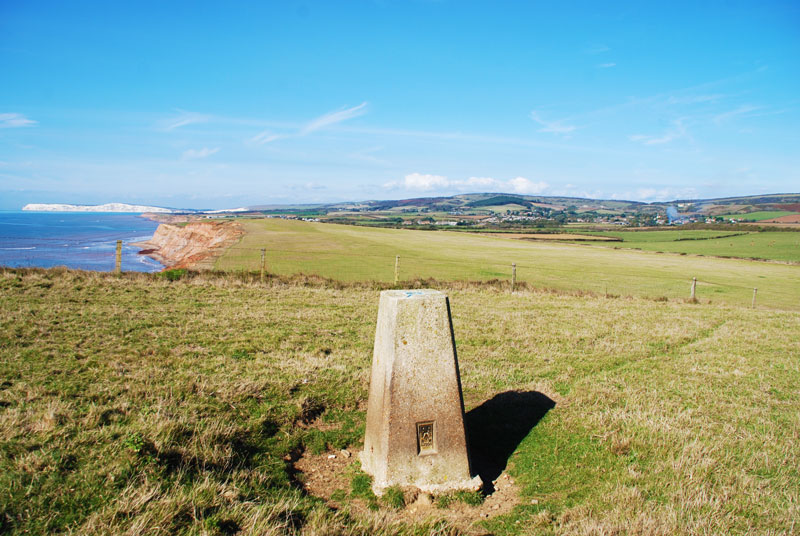 Trig point on cliffs